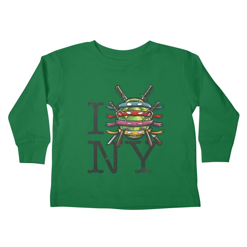 I (Turtle) NY Kids Toddler Longsleeve T-Shirt by Alberto Arni's Artist Shop
