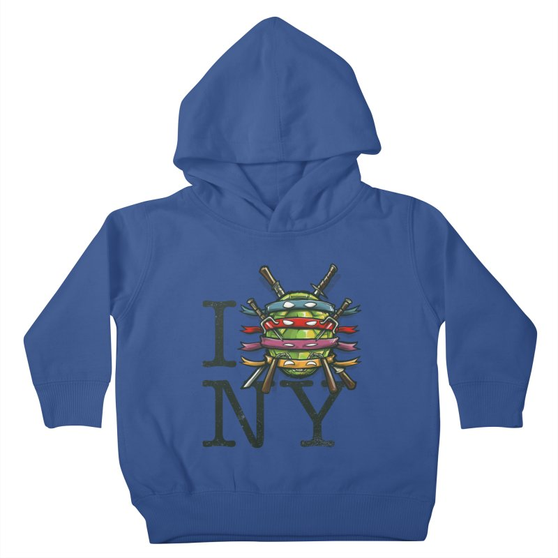 I (Turtle) NY Kids Toddler Pullover Hoody by Alberto Arni's Artist Shop