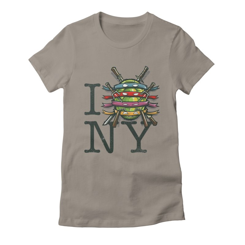 I (Turtle) NY Women's Fitted T-Shirt by Alberto Arni's Artist Shop