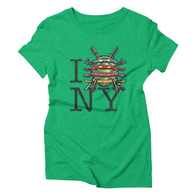 I (Turtle) NY Women's Triblend T-Shirt by Alberto Arni's Artist Shop