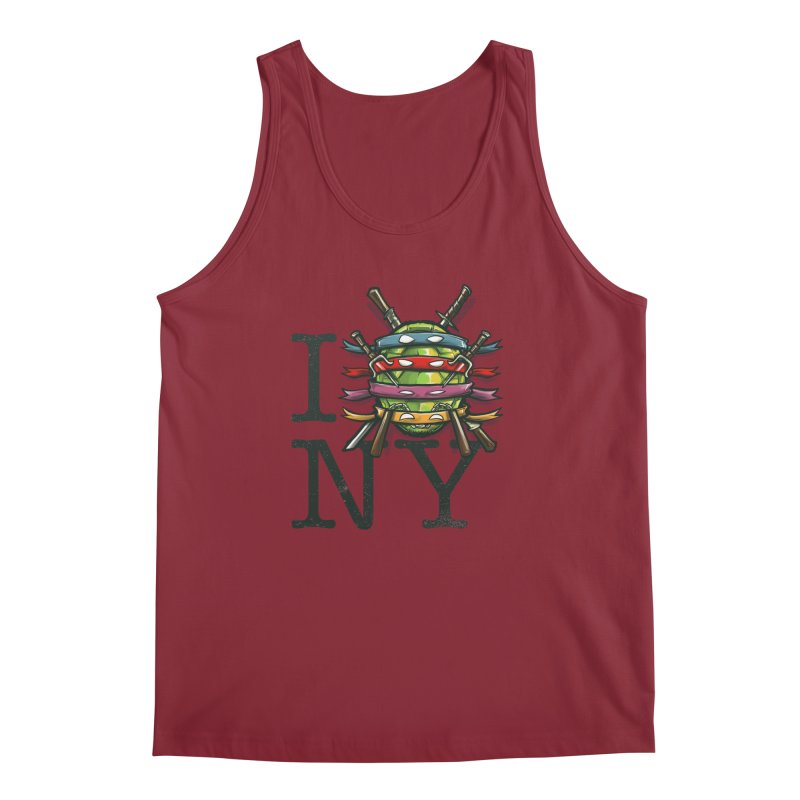 I (Turtle) NY Men's Tank by Alberto Arni's Artist Shop
