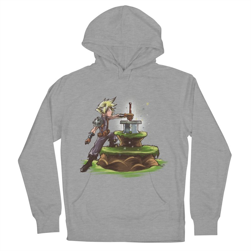 The Buster Sword in the Stone Women's Pullover Hoody by Alberto Arni's Artist Shop
