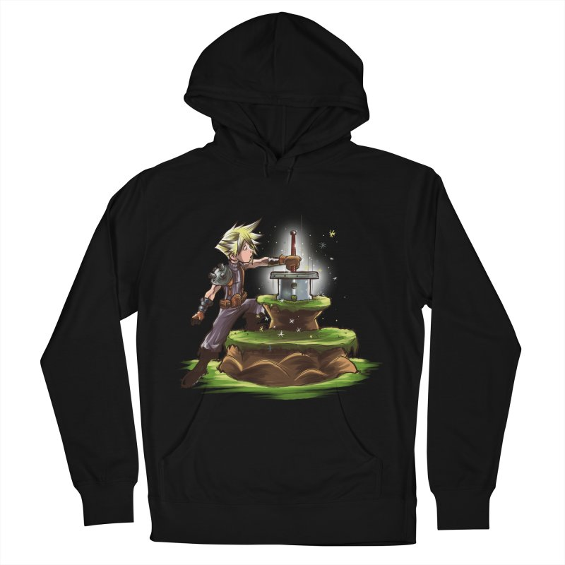 The Buster Sword in the Stone Men's Pullover Hoody by Alberto Arni's Artist Shop
