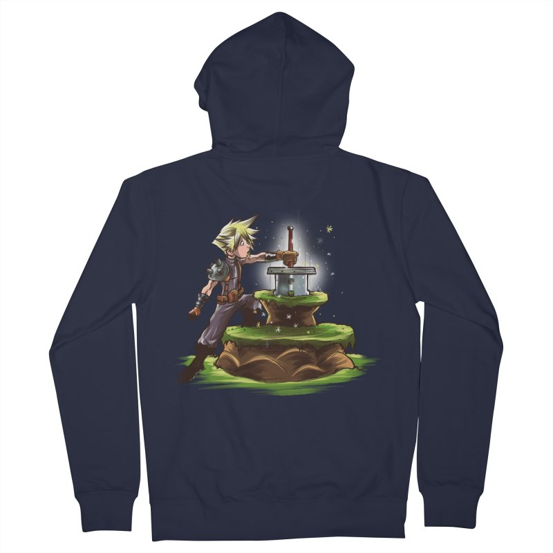 The Buster Sword in the Stone Women's Zip-Up Hoody by Alberto Arni's Artist Shop