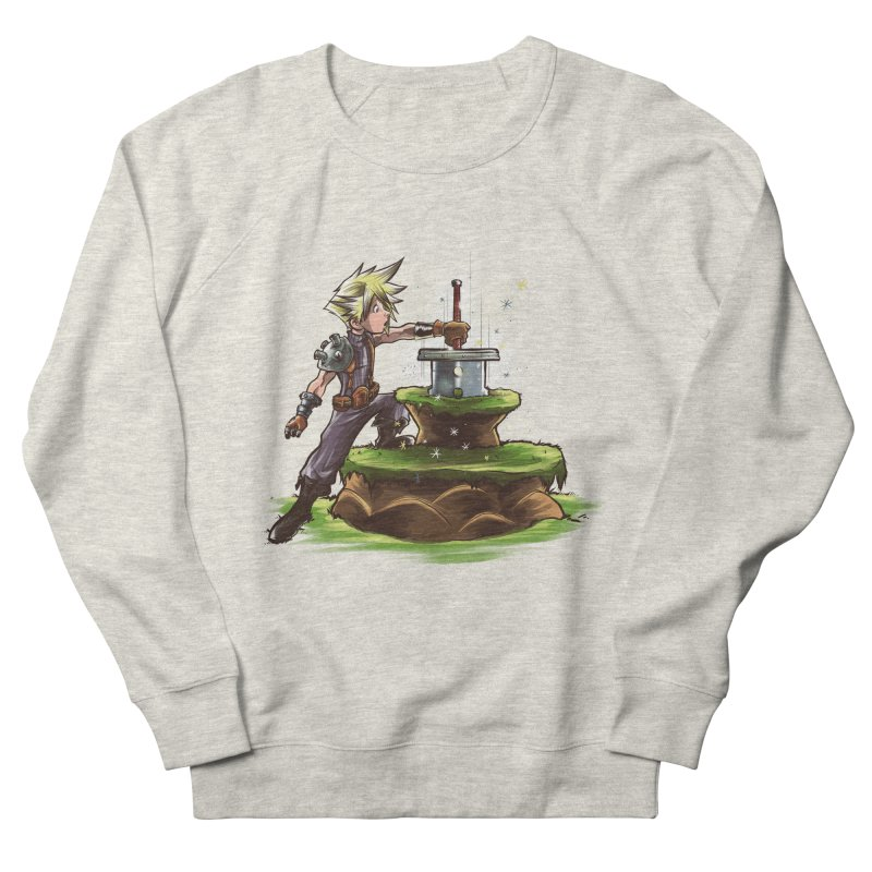 The Buster Sword in the Stone Men's Sweatshirt by Alberto Arni's Artist Shop