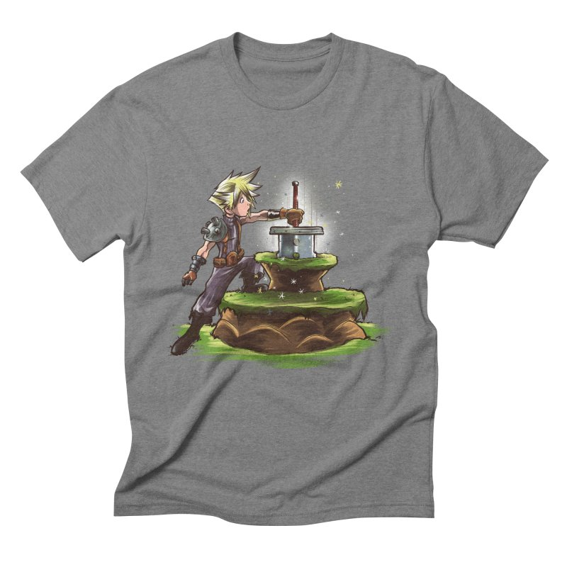 The Buster Sword in the Stone Men's Triblend T-Shirt by Alberto Arni's Artist Shop