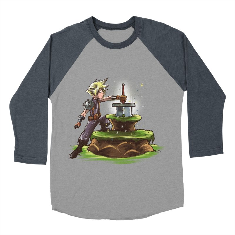 The Buster Sword in the Stone Women's Baseball Triblend T-Shirt by Alberto Arni's Artist Shop