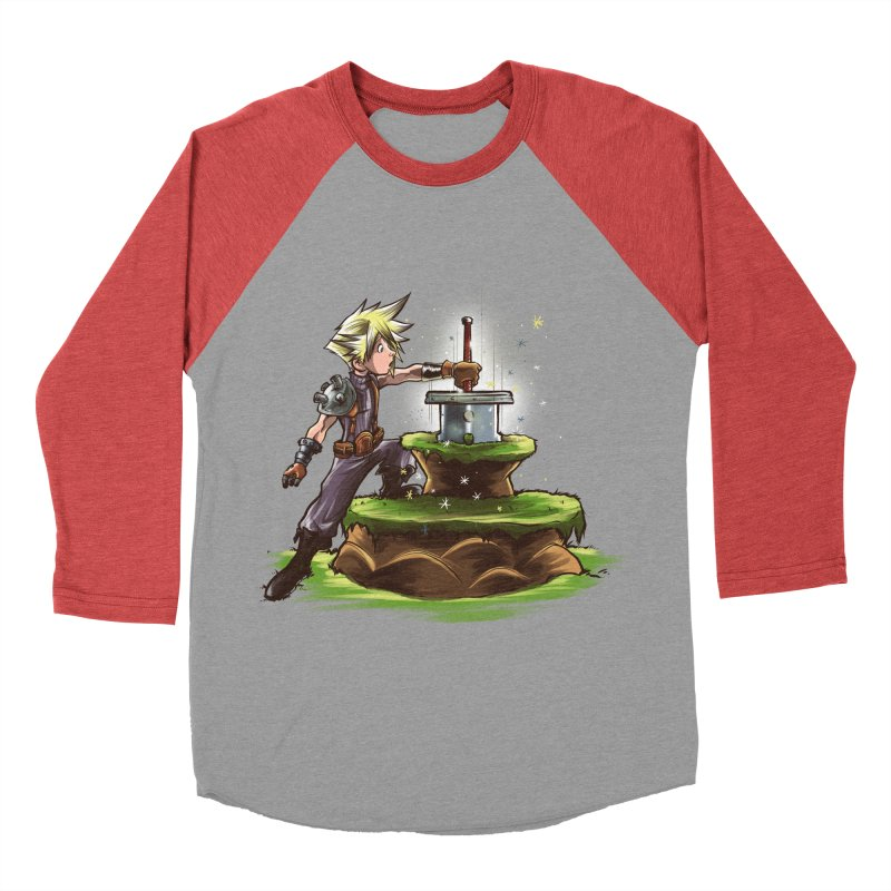 The Buster Sword in the Stone Men's Baseball Triblend T-Shirt by Alberto Arni's Artist Shop