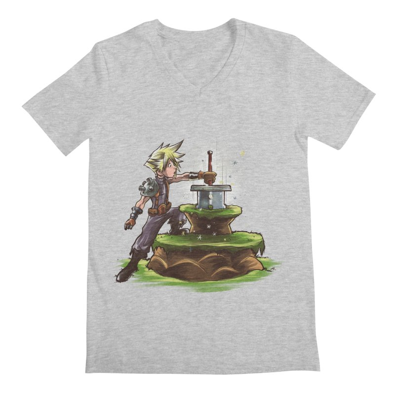 The Buster Sword in the Stone Men's V-Neck by Alberto Arni's Artist Shop