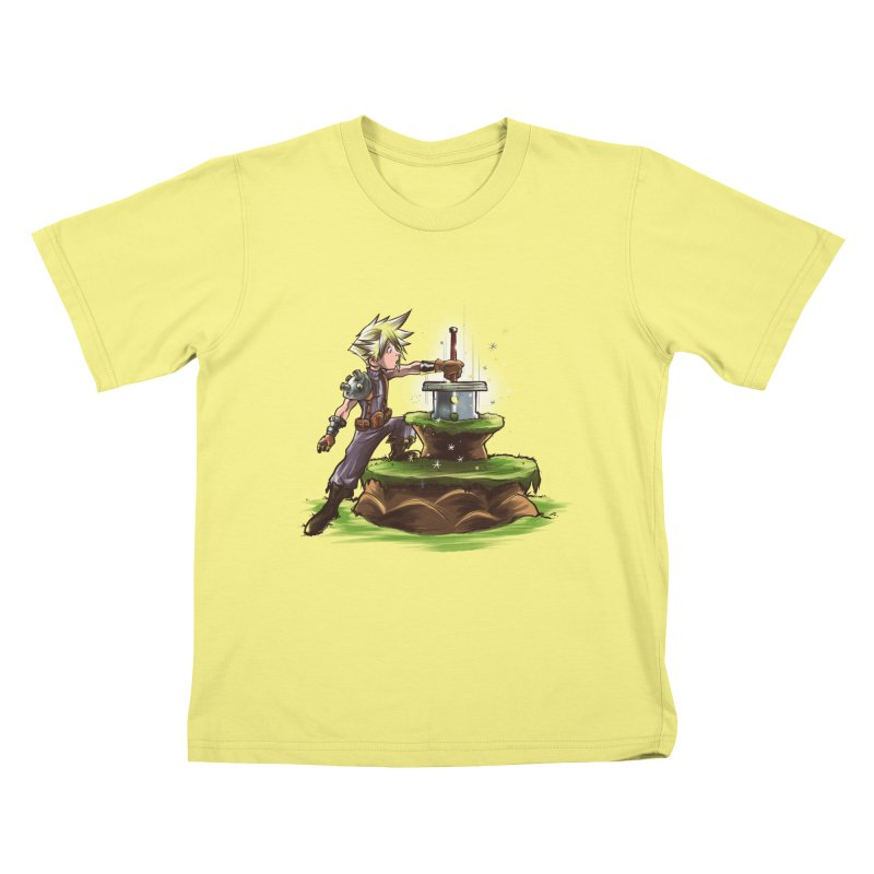The Buster Sword in the Stone Kids T-shirt by Alberto Arni's Artist Shop