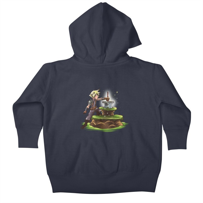 The Buster Sword in the Stone Kids Baby Zip-Up Hoody by Alberto Arni's Artist Shop