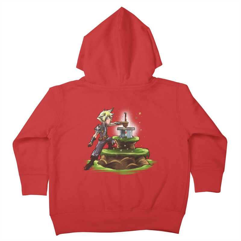 The Buster Sword in the Stone Kids Toddler Zip-Up Hoody by Alberto Arni's Artist Shop
