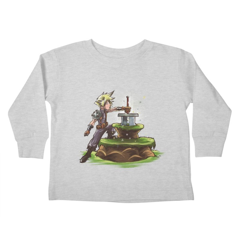 The Buster Sword in the Stone Kids Toddler Longsleeve T-Shirt by Alberto Arni's Artist Shop