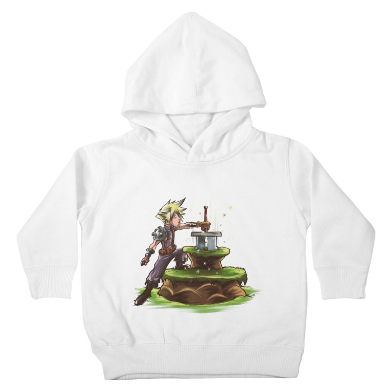 The Buster Sword in the Stone Kids Toddler Pullover Hoody by Alberto Arni's Artist Shop