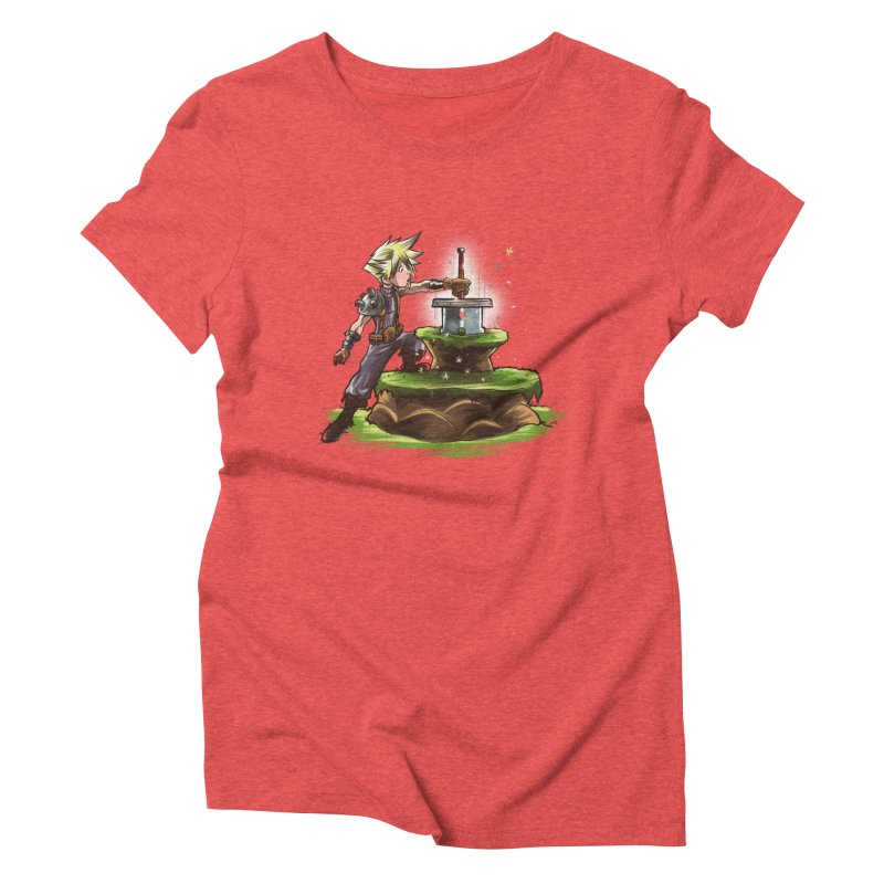 The Buster Sword in the Stone Women's Triblend T-Shirt by Alberto Arni's Artist Shop