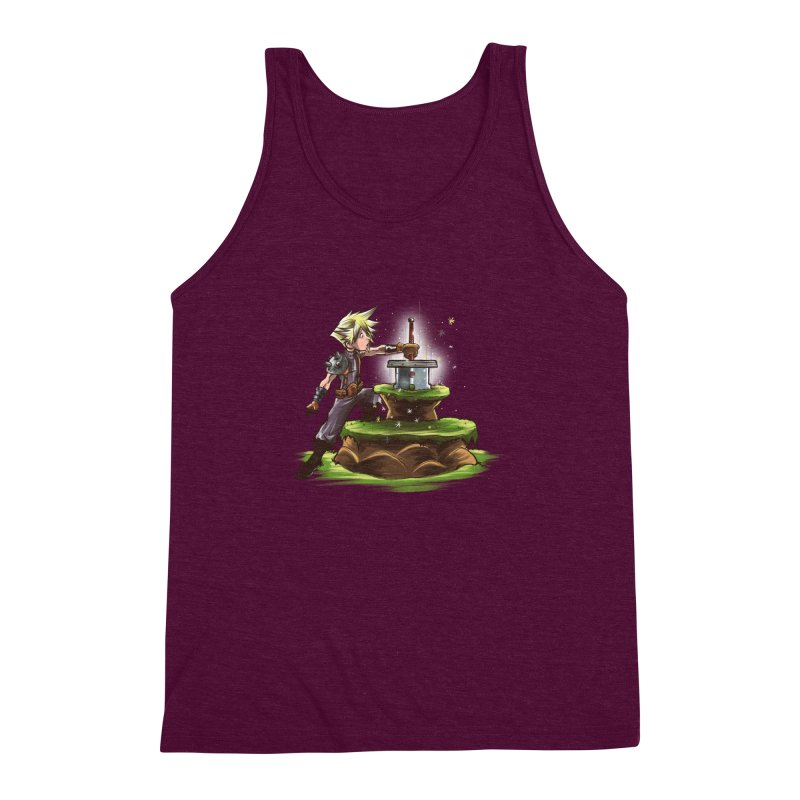 The Buster Sword in the Stone Men's Triblend Tank by Alberto Arni's Artist Shop