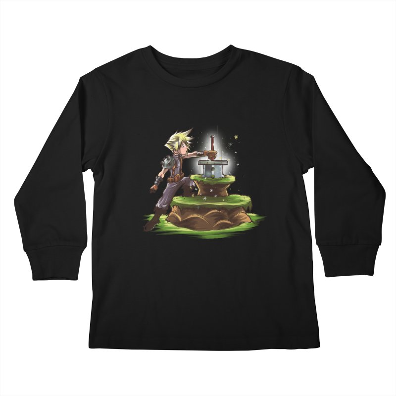 The Buster Sword in the Stone Kids Longsleeve T-Shirt by Alberto Arni's Artist Shop