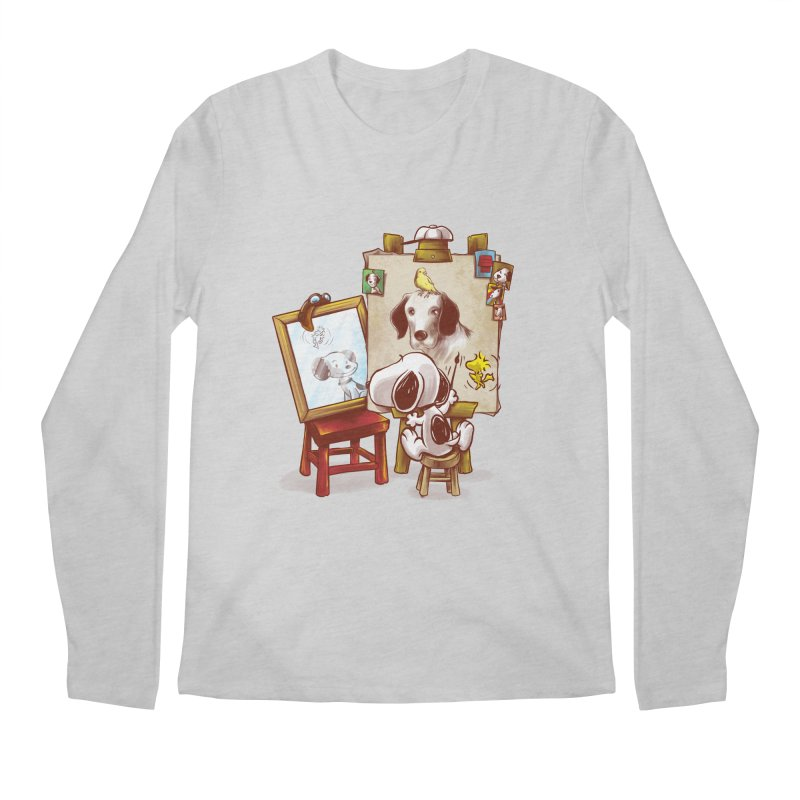 Triple Beagle Portrait Men's Longsleeve T-Shirt by Alberto Arni's Artist Shop
