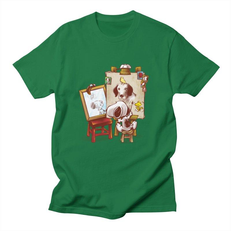 Triple Beagle Portrait Men's T-shirt by Alberto Arni's Artist Shop