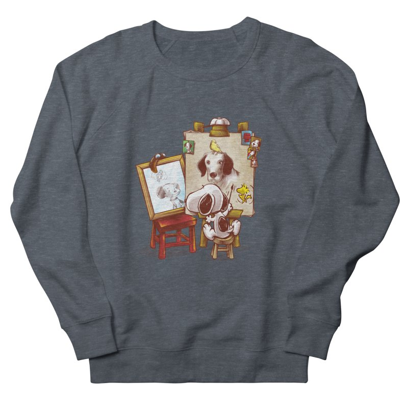 Triple Beagle Portrait Men's Sweatshirt by Alberto Arni's Artist Shop
