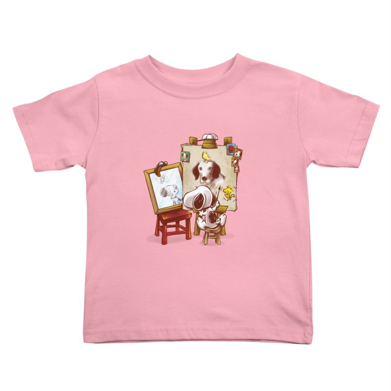 Triple Beagle Portrait Kids Toddler T-Shirt by Alberto Arni's Artist Shop