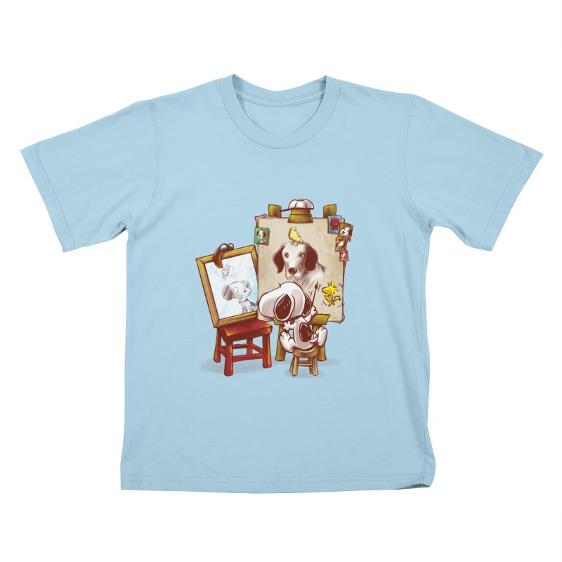 Triple Beagle Portrait Kids T-shirt by Alberto Arni's Artist Shop