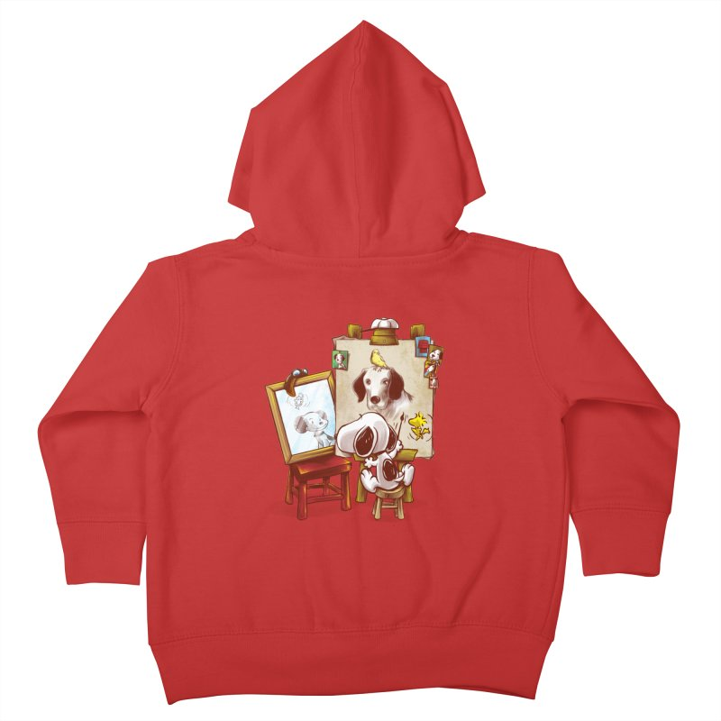 Triple Beagle Portrait Kids Toddler Zip-Up Hoody by Alberto Arni's Artist Shop