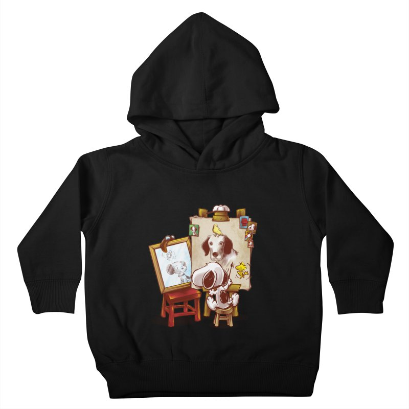 Triple Beagle Portrait Kids Toddler Pullover Hoody by Alberto Arni's Artist Shop
