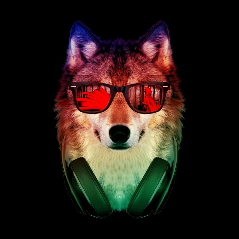 HIPPIE WOLF None  by alchemist's Artist Shop