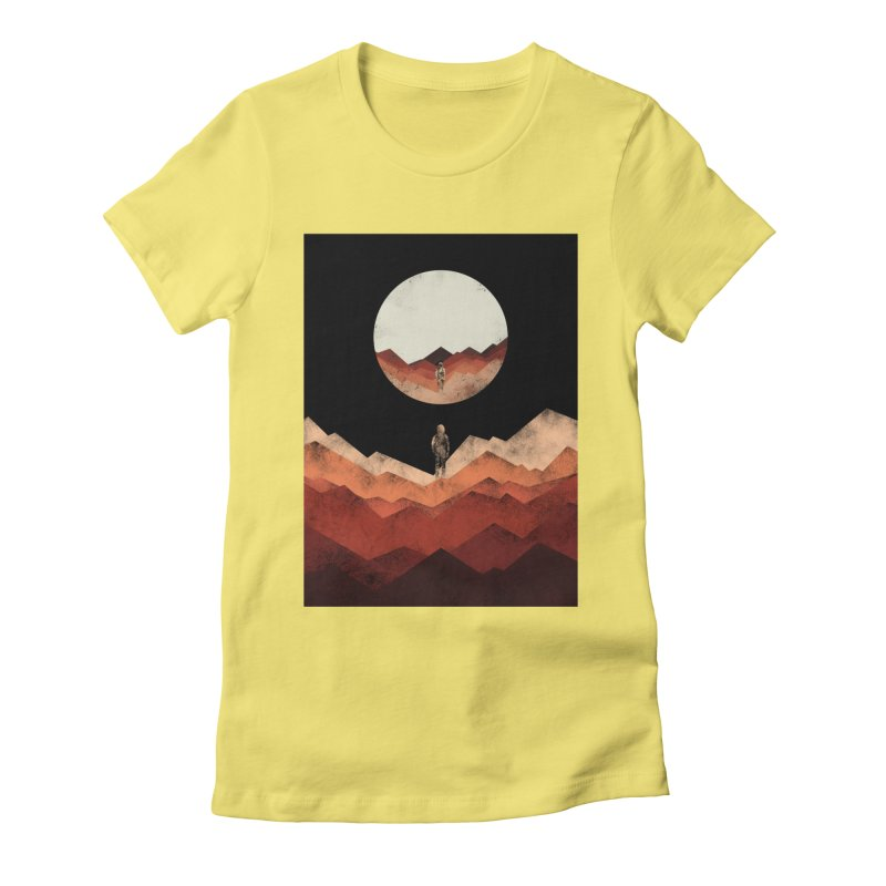 MY REFLECTION Women's Fitted T-Shirt by alchemist's Artist Shop