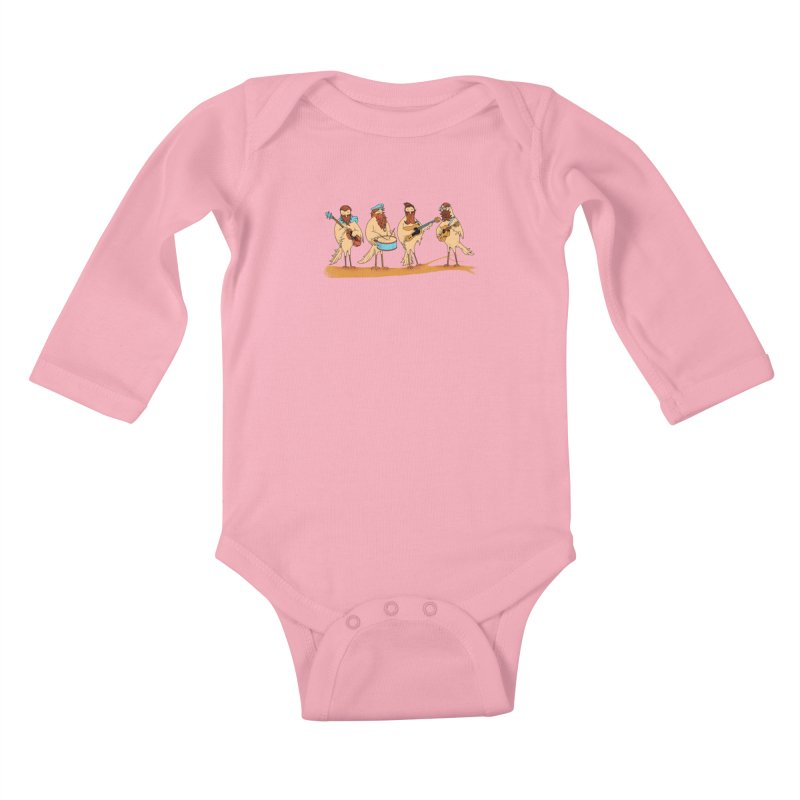 THE BEARD BAND Kids Baby Longsleeve Bodysuit by alchemist's Artist Shop
