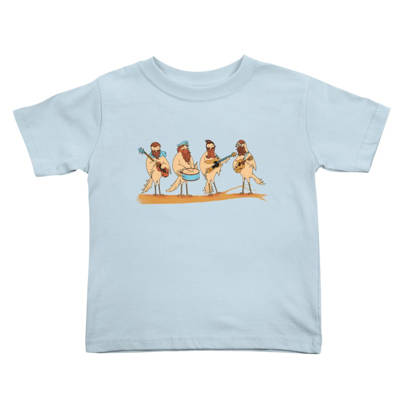 THE BEARD BAND Kids Toddler T-Shirt by alchemist's Artist Shop