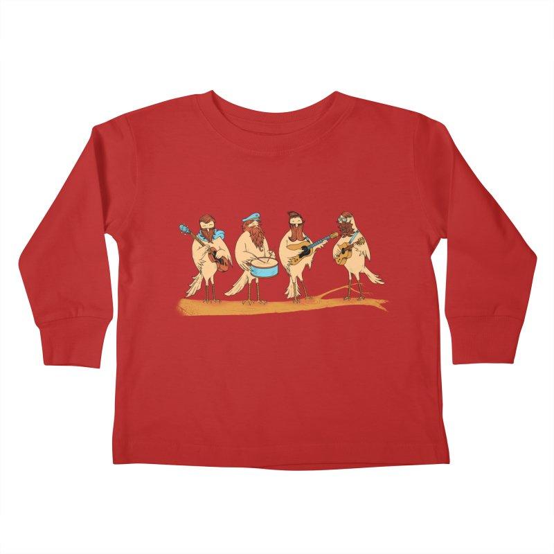 THE BEARD BAND Kids Toddler Longsleeve T-Shirt by alchemist's Artist Shop