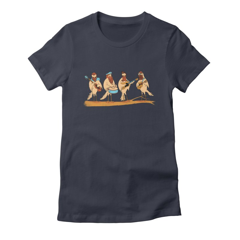 THE BEARD BAND Women's Fitted T-Shirt by alchemist's Artist Shop