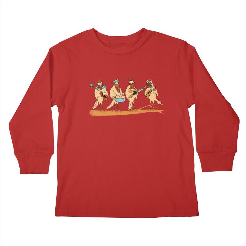 THE BEARD BAND Kids Longsleeve T-Shirt by alchemist's Artist Shop
