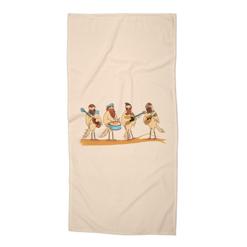 THE BEARD BAND Accessories Beach Towel by alchemist's Artist Shop