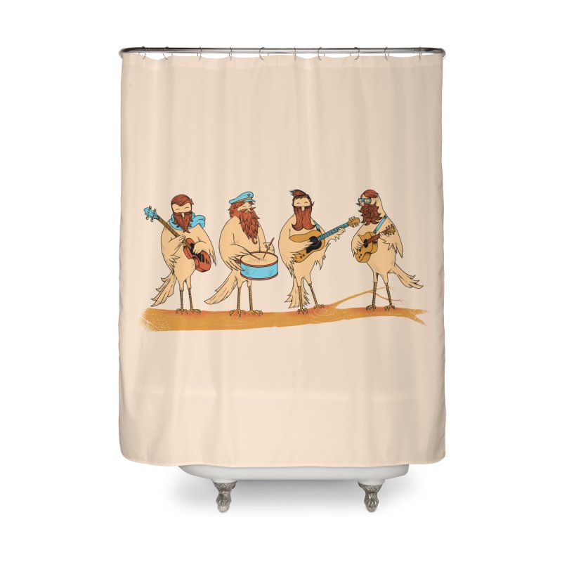 THE BEARD BAND Home Shower Curtain by alchemist's Artist Shop