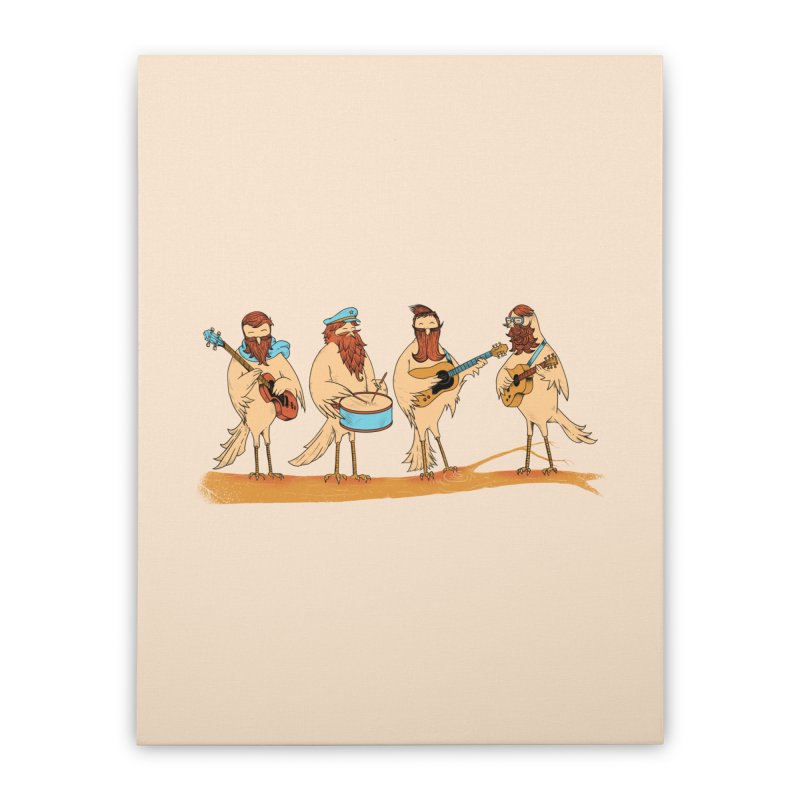 THE BEARD BAND Home Stretched Canvas by alchemist's Artist Shop
