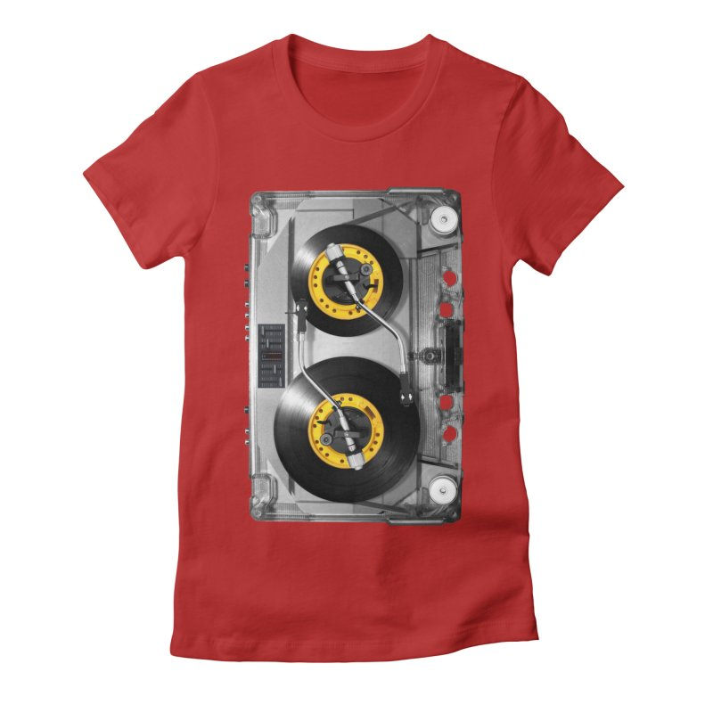 NONSTOP PLAY Women's Fitted T-Shirt by alchemist's Artist Shop