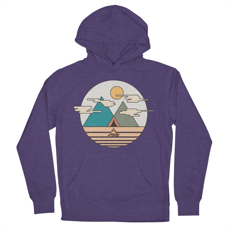 BENEATH THE MOUNTAINS Women's Pullover Hoody by alchemist's Artist Shop