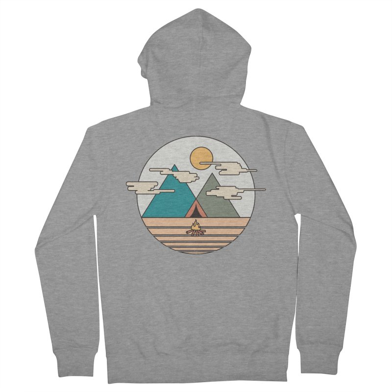 BENEATH THE MOUNTAINS Women's Zip-Up Hoody by alchemist's Artist Shop