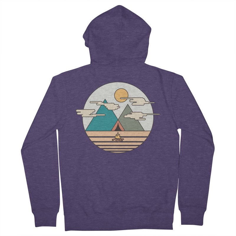 BENEATH THE MOUNTAINS Men's Zip-Up Hoody by alchemist's Artist Shop