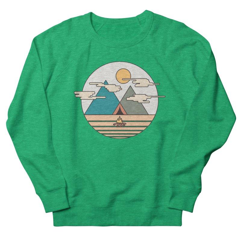 BENEATH THE MOUNTAINS Women's Sweatshirt by alchemist's Artist Shop