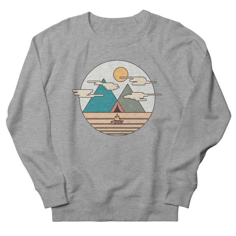 BENEATH THE MOUNTAINS Women's Sweatshirt by alchemist's Artist Shop