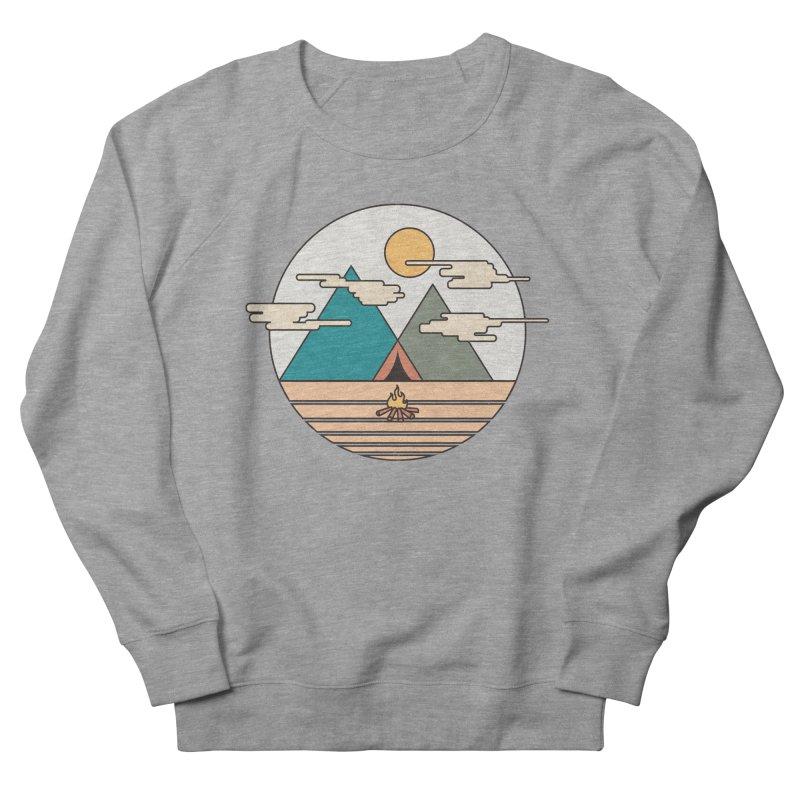 BENEATH THE MOUNTAINS Men's Sweatshirt by alchemist's Artist Shop