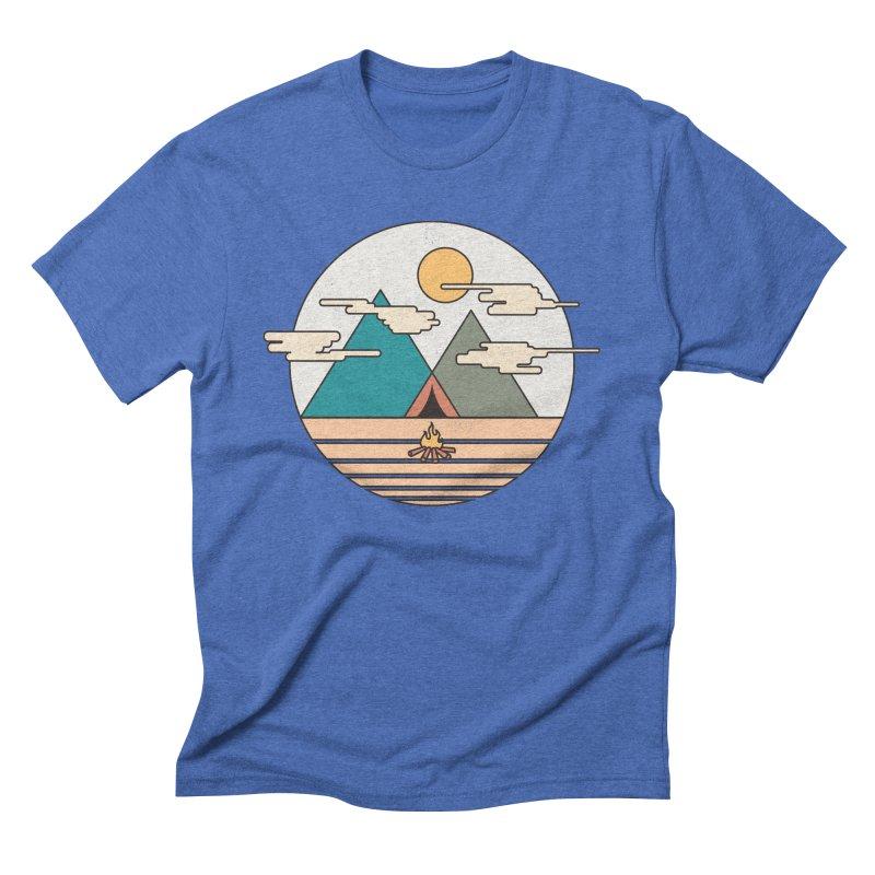 BENEATH THE MOUNTAINS Men's Triblend T-shirt by alchemist's Artist Shop