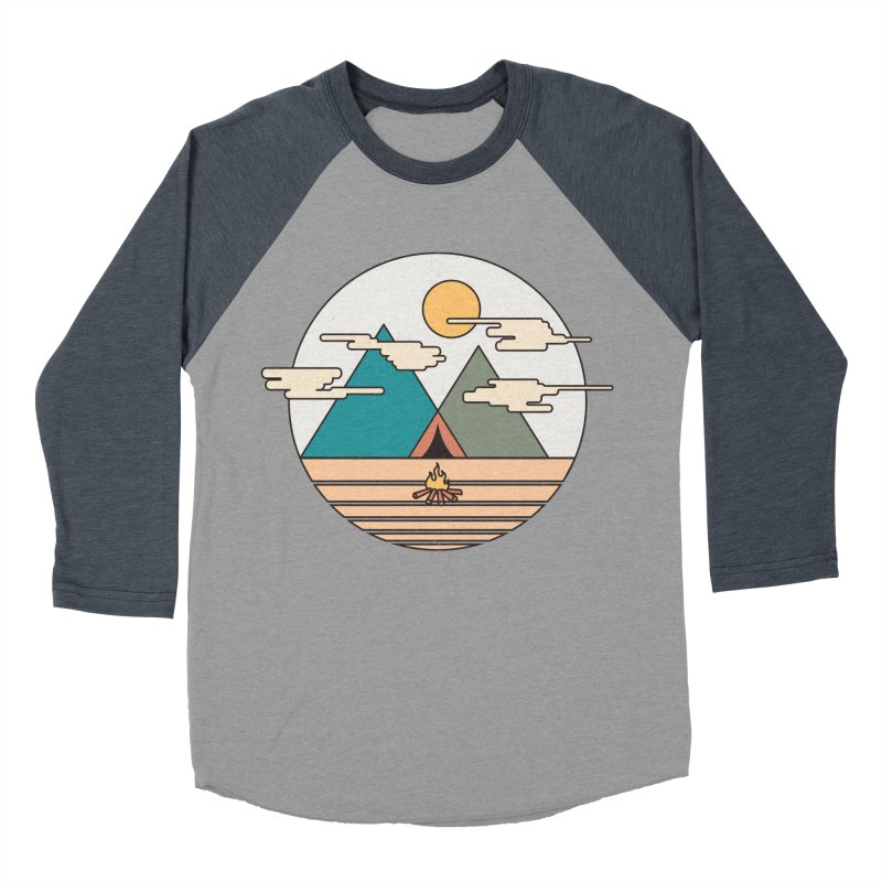 BENEATH THE MOUNTAINS Men's Baseball Triblend T-Shirt by alchemist's Artist Shop
