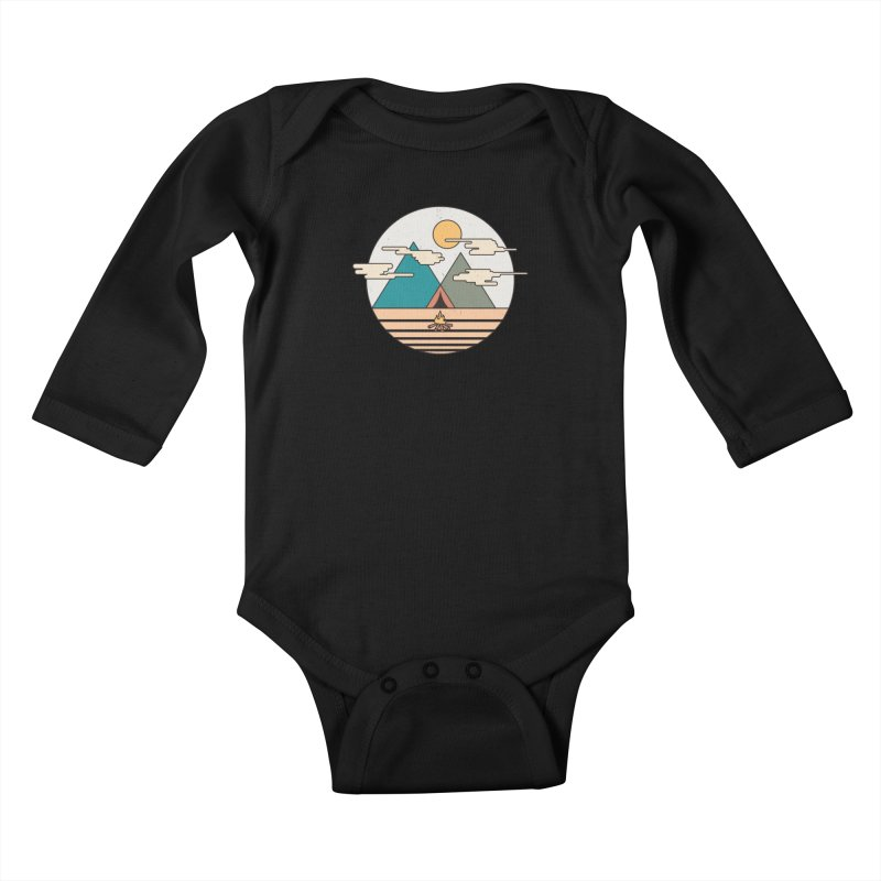 BENEATH THE MOUNTAINS Kids Baby Longsleeve Bodysuit by alchemist's Artist Shop