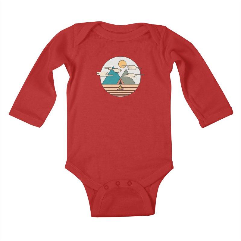 BENEATH THE MOUNTAINS Kids Baby Longsleeve Bodysuit by alchemist's Artist Shop