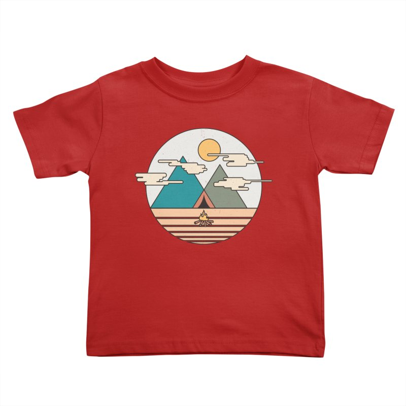 BENEATH THE MOUNTAINS Kids Toddler T-Shirt by alchemist's Artist Shop